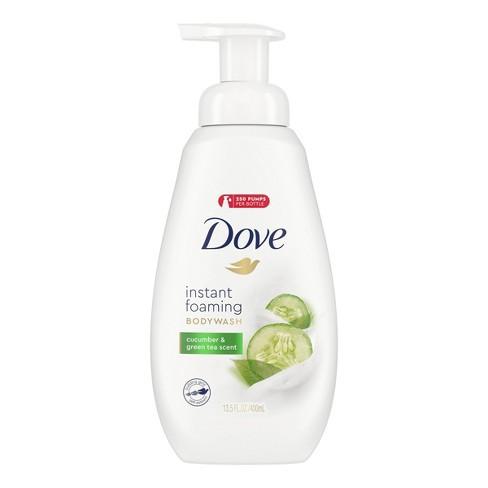 Dove Cucumber & Green Tea Shower Foam Body Wash - 13.5 fl oz - image 1 of 4