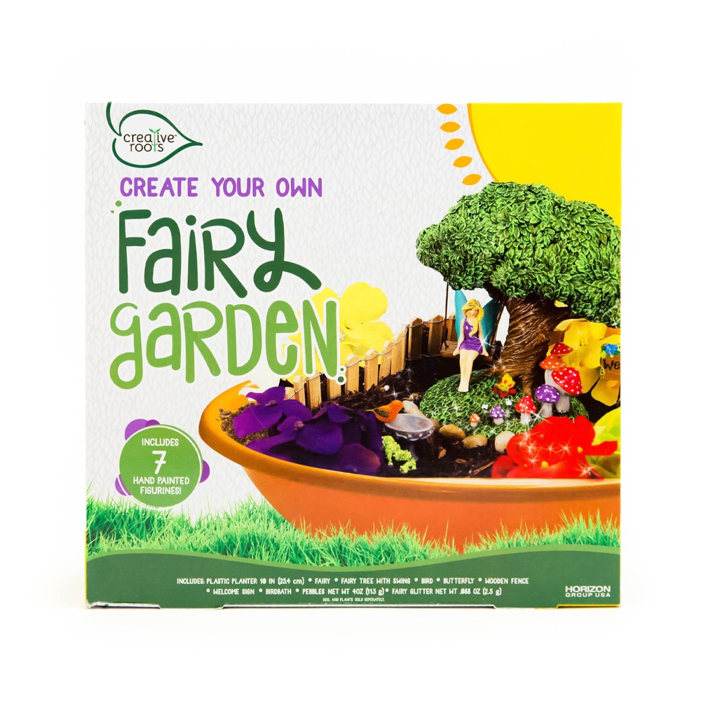Image of Creative Roots Create Your Own Fairy Garden Kit, White
