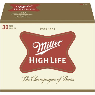 Miller High Life Beer - 30pk/12 fl oz Cans