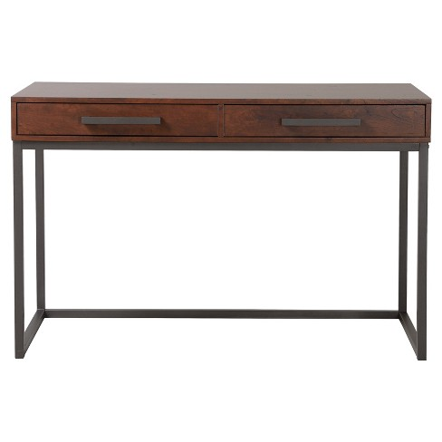 Horatio Computer Desk with Metal Base - Walnut - Homestar - image 1 of 7