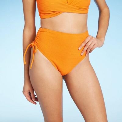 Women's High Waist Drawstring Bikini Bottom - Sea Angel