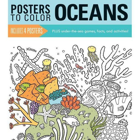 Posters to Color: Oceans - (Paperback) - image 1 of 1