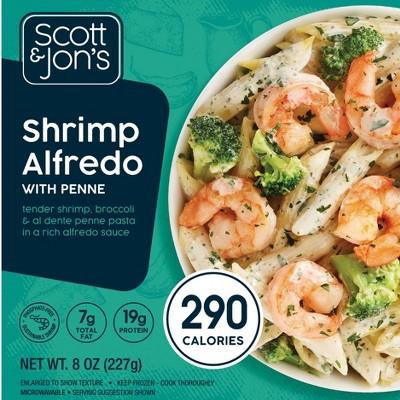 Scott & Jon's Frozen Shrimp Alfredo Pasta Bowl - 8oz
