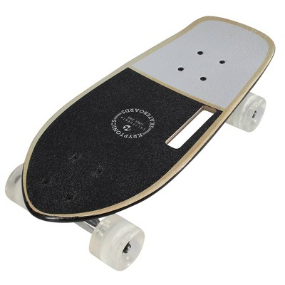 "Kryptonics 19"" Stubby Panda Vibes Cruiser Board - White/Black"