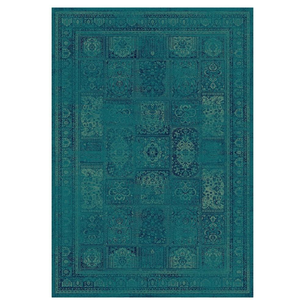Sabrina Vintage Area Rug - Teal (4'x5'7) - Safavieh, Turquoise