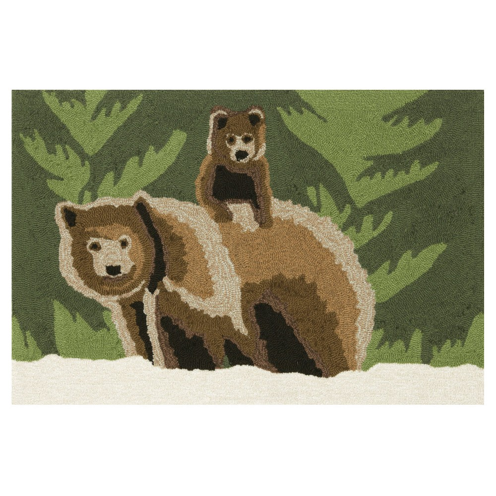 Frontporch Indoor/Outdoor Bear Family Forest Rug 20