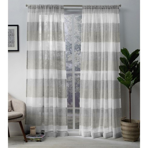 Set of 2 Bern Rod Pocket Window Curtain Panels Exclusive Home - image 1 of 5