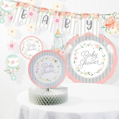 Country Floral Baby Shower Decorations Kit