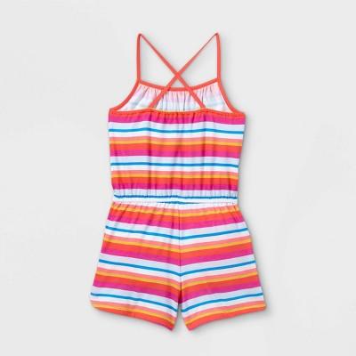 Girls' Printed Knit Sleeveless Romper - Cat & Jack™