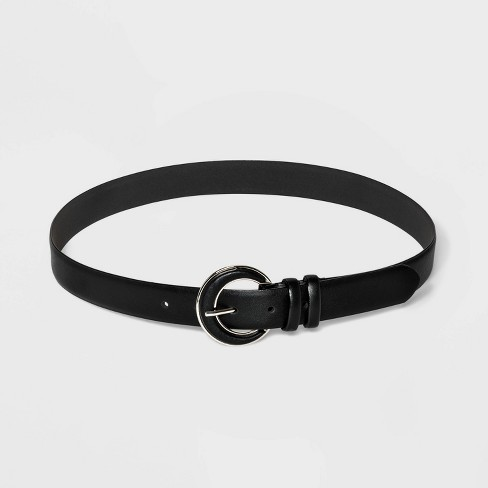Women's Faux Leather Inlet Belt - A New Day™ - image 1 of 2