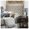 Queen/Full Jezebel Button Tufted Headboard - Christopher Knight Home - image 3 of 4