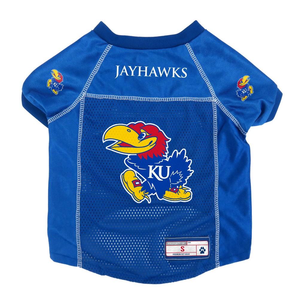 Kansas Jayhawks Little Earth Pet Football Jersey - L, Multicolored