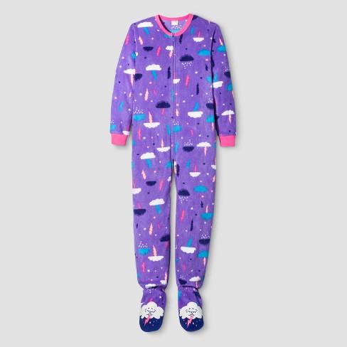 girls cloud print blanket sleeper cat jack purple target