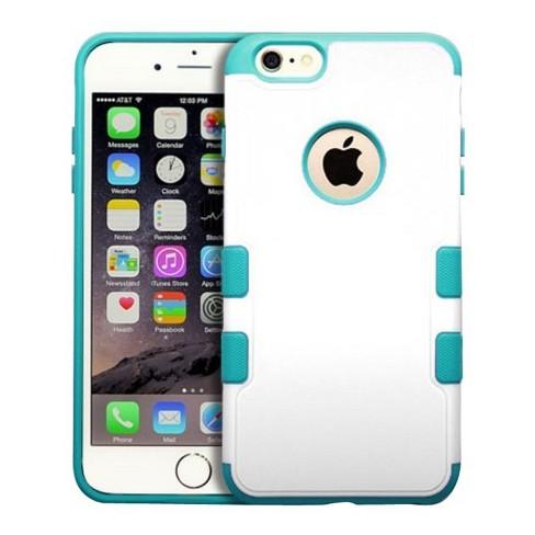 MYBAT For Apple iPhone 6 Plus/6s Plus White Blue Tuff Merge Hard Rubberized Case - image 1 of 2