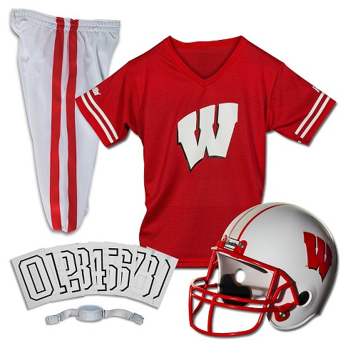 lowest price 9b79e 700c6 Franklin Sports Team Licensed Wisconsin Badgers Deluxe Football Uniform Set