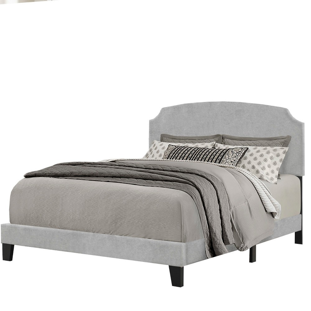Desi Upholstered Bed In One - Queen - Glacier Gray - Hillsdale Furniture