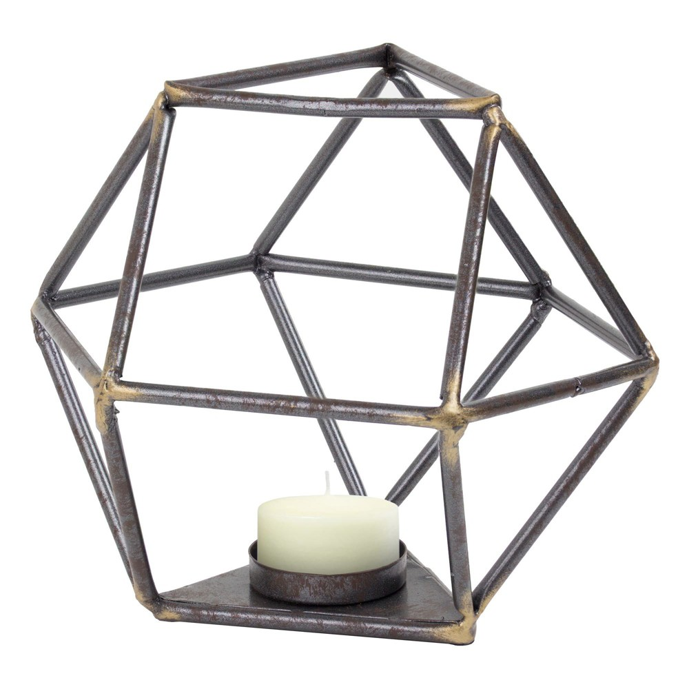 Image of Decorative Metal Figurine - Brown