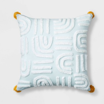 Square Abstract Rainbow Throw Pillow Airy Blue - Pillowfort™