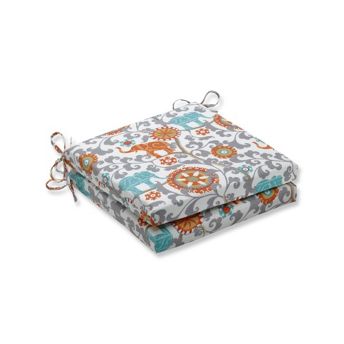 Menagerie Cayenne 2pc Indoor/Outdoor Squared Corners Seat Cushion - Pillow Perfect - image 1 of 1