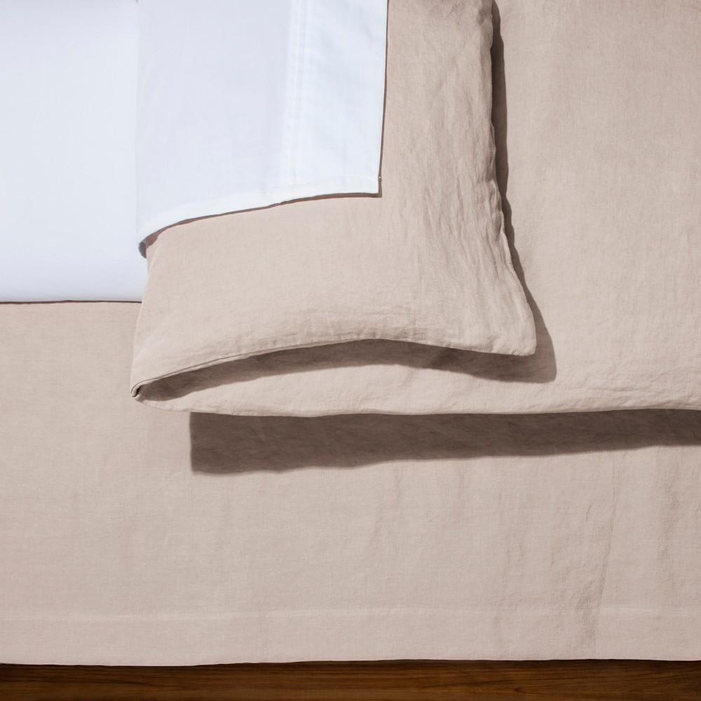 Image of Blush Linen Bed Skirt (California King) - Fieldcrest