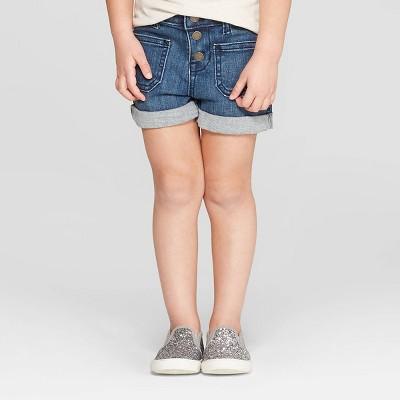 Genuine Kids® from OshKosh Toddler Girls' Jean Shorts - Dark Blue 5T