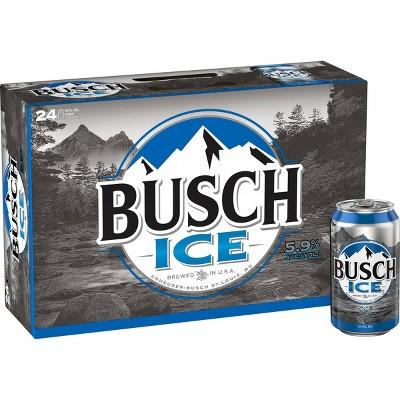 Busch Ice Beer - 24pk/12 fl oz Cans