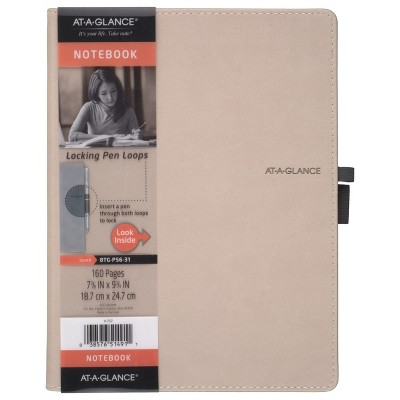 Professional Notebook 7.4  x 9.7  Perfect Bound Tan - AT-A-GLANCE