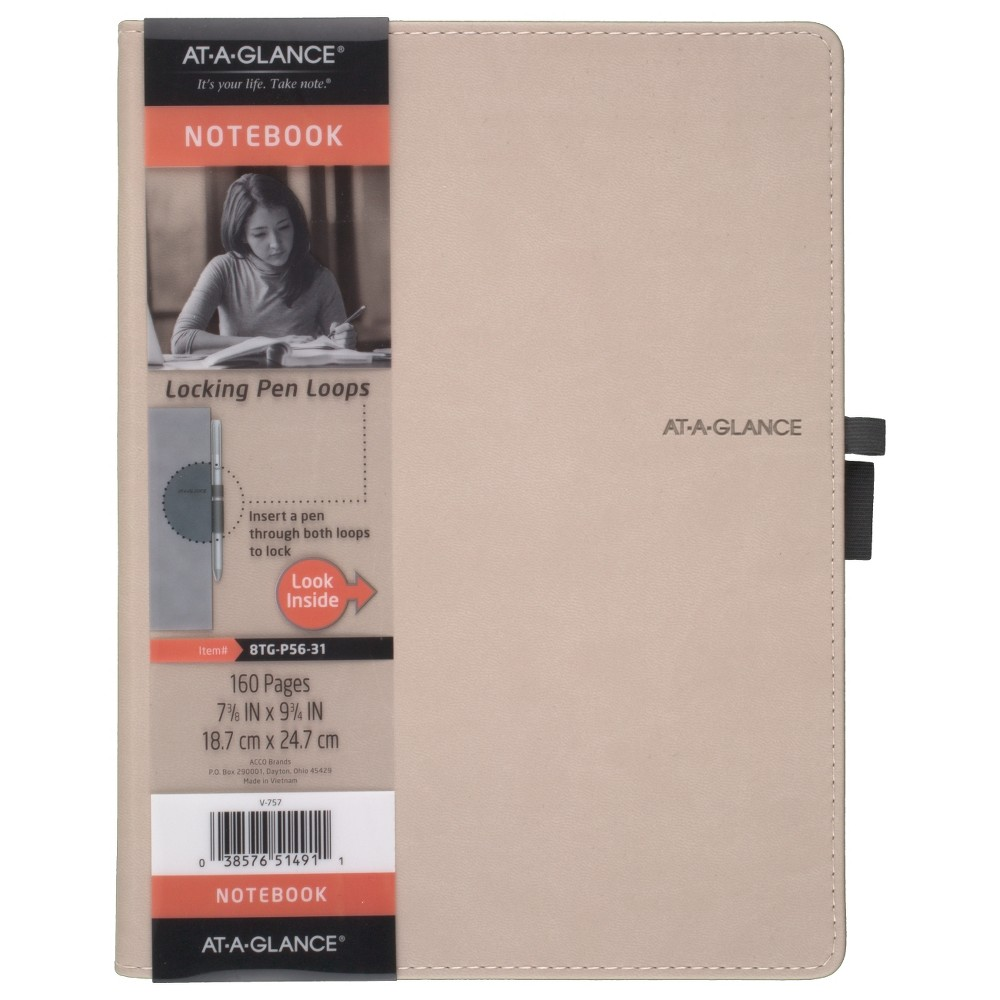 "Image of ""Professional Notebook 7.4"""" x 9.7"""" Perfect Bound Tan - AT-A-GLANCE, Brown"""