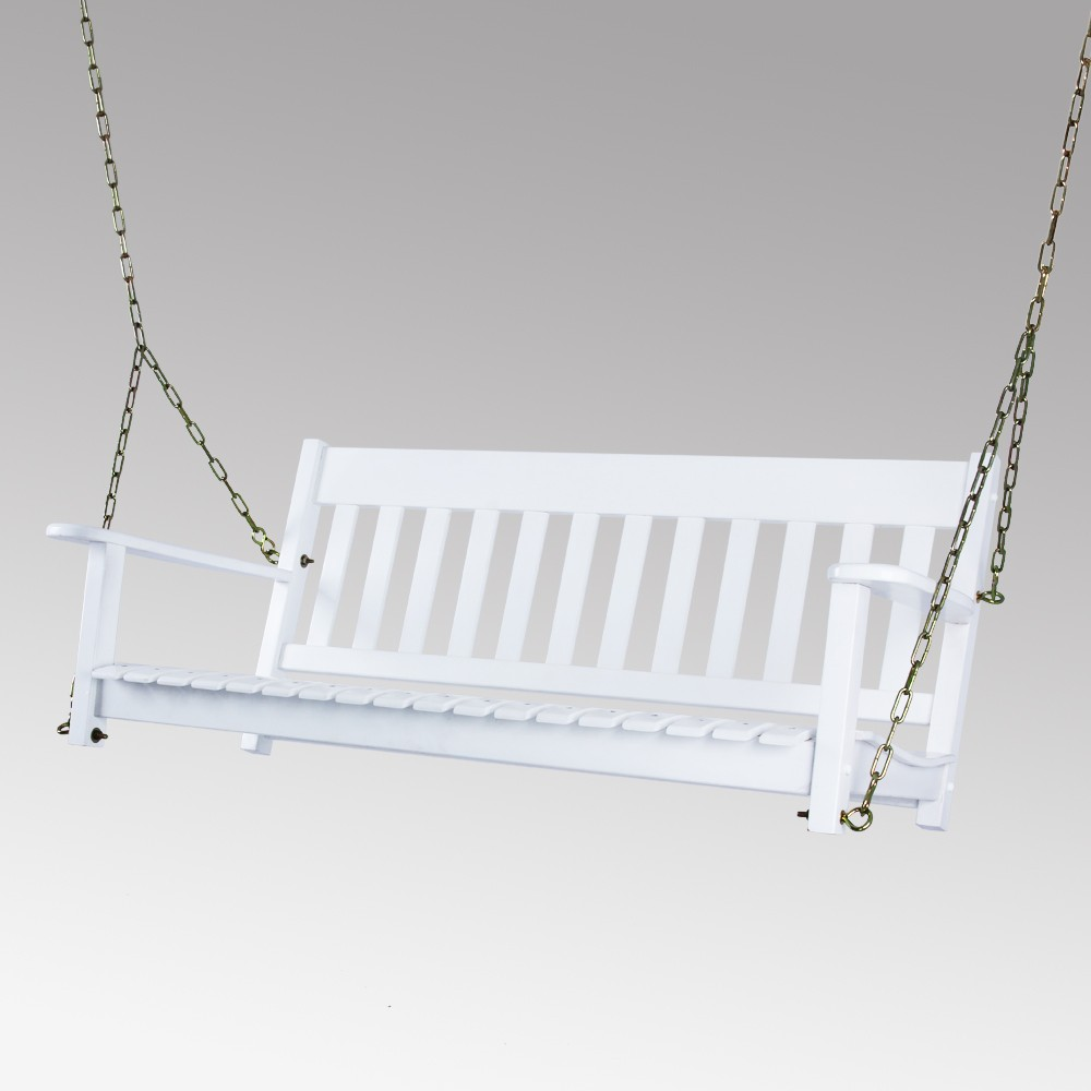 Image of Alston Porch Swing - White - Cambridge Casual