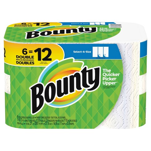 bounty select a size paper towels double rolls target