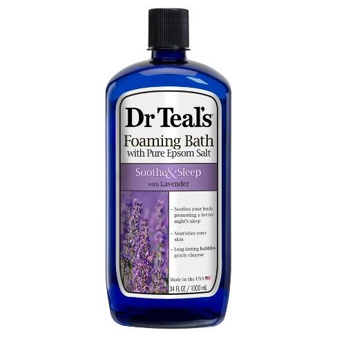 Dr Teal's Pure Epsom Salt Soothe & Sleep Lavender Foaming Bath - 34 fl oz - image 1 of 3