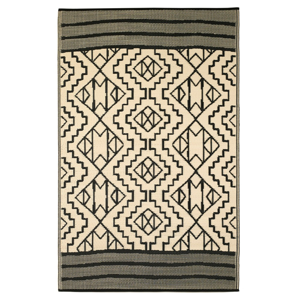 Image of 6'X9' Patio Rug - Reversible - Fab Habitat Aqua, Blue