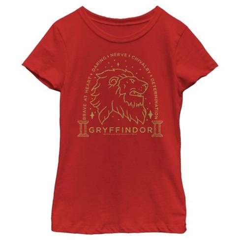 Girl's Harry Potter Gryffindor House Emblem T-Shirt - image 1 of 3