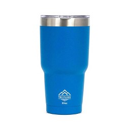 TruFlask Double Vacuum Insulated 30 oz Stainless Steel Travel Tumbler, Blue
