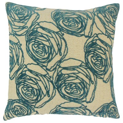 """Turquoise Square Throw Pillow (20""""x20"""") - The Pillow Collection"""