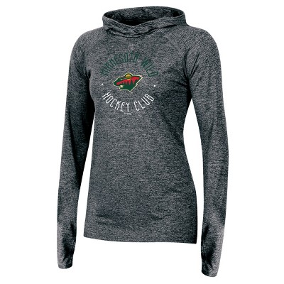 Minnesota Wild Women's For the Win Gray Performance Hoodie XL