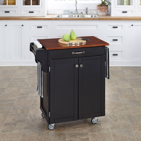 Kitchen Carts And Islands With Wood Top