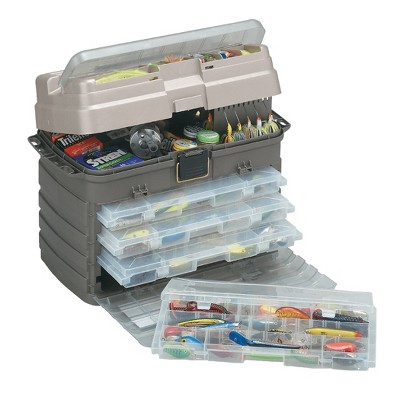 Plano Guide Series Original StowAway Rack Drawer System 3700 Tackle Box Case for Fishing Storage with 4 Removable Bait Utility Boxes, Graphite
