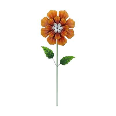 36  H Metal Garden Stake - Orange - Creative Motion