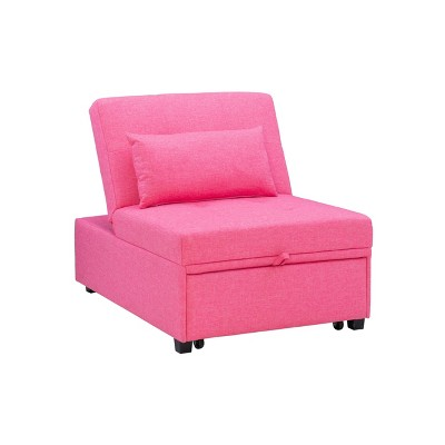 Full Wales Recliner Bed Hot Pink - Powell