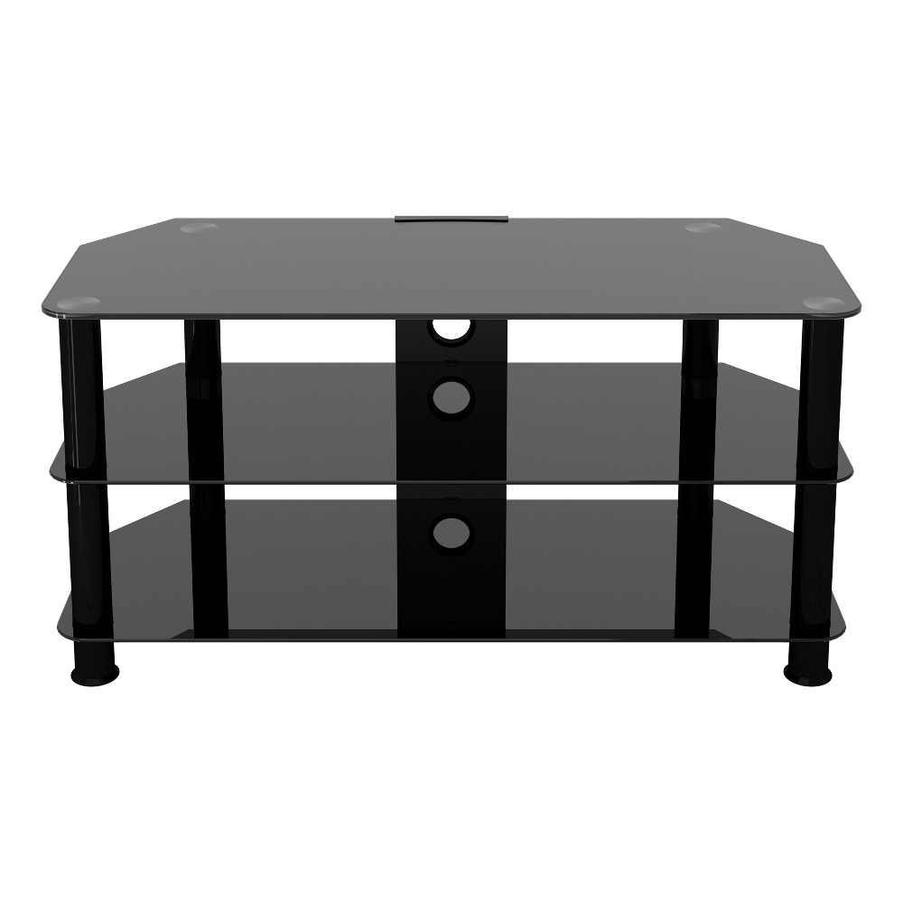 Avf Classic Corner Glass TV Stand With Cable Management Black