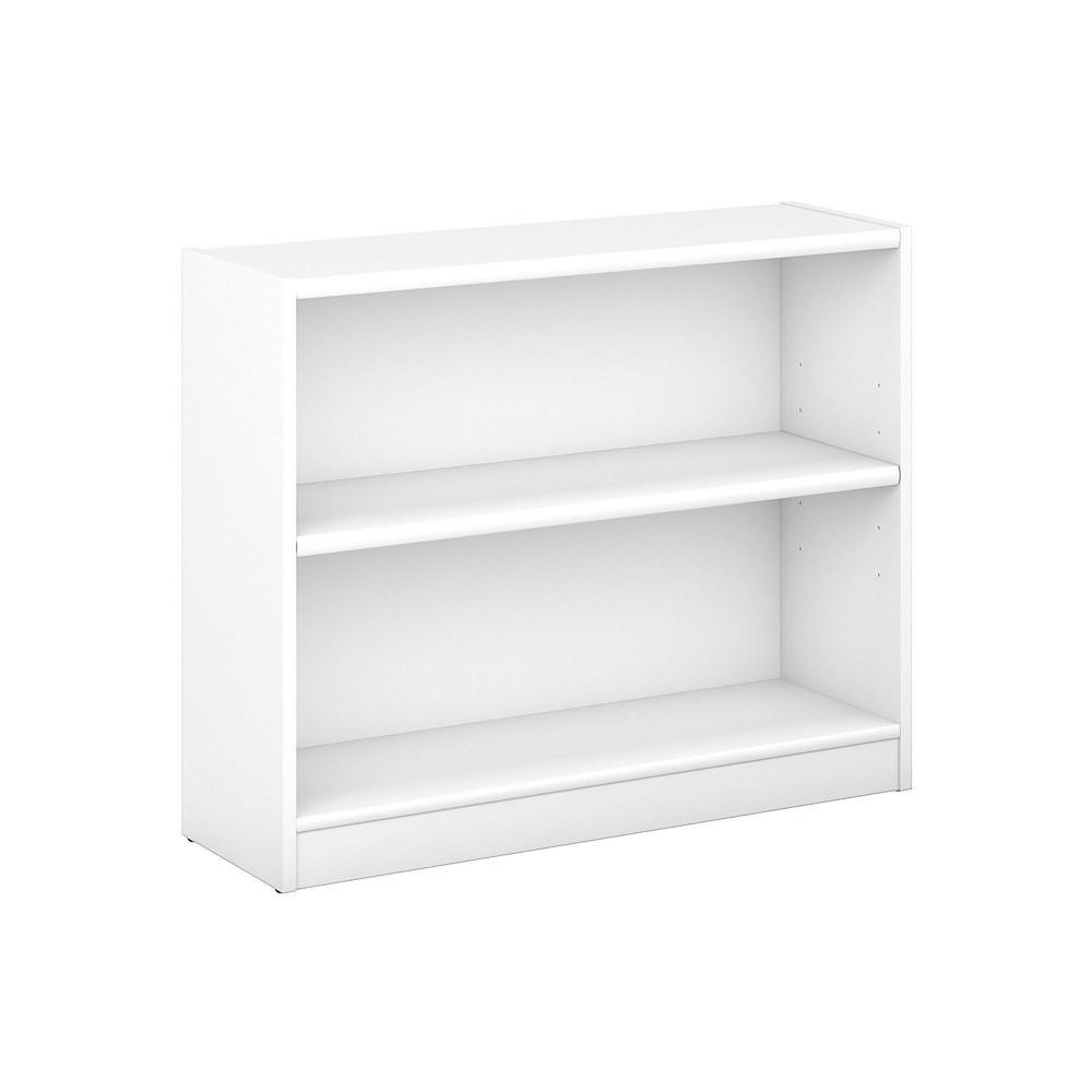 Image of 2 Universal Shelf Bookcase Pure White - Bush Furniture