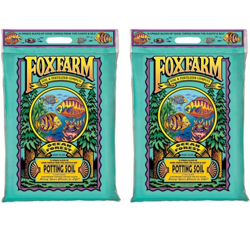 Foxfarm FX14053 Ocean Forest Plant Garden PH Adjusted 12 Quarts Potting Soil Blend Mix for Containerized Plants, 11.9 Pound Bag (2 Pack) - image 1 of 2