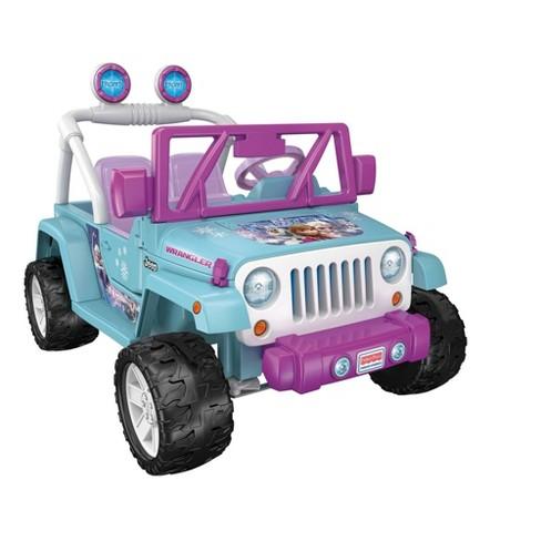 Power Wheels 12V Disney Princess Frozen Jeep Wrangler Powered Ride-On - image 1 of 4