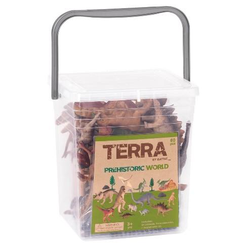 Terra – Miniature Dinosaur Toys in Bucket (60pc) – Prehistoric World - image 1 of 4