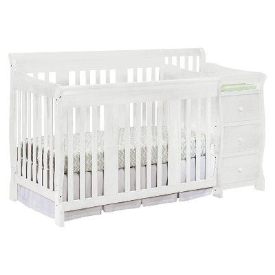 Stork Craft Portofino 4-in-1 Convertible Crib and Changer - White