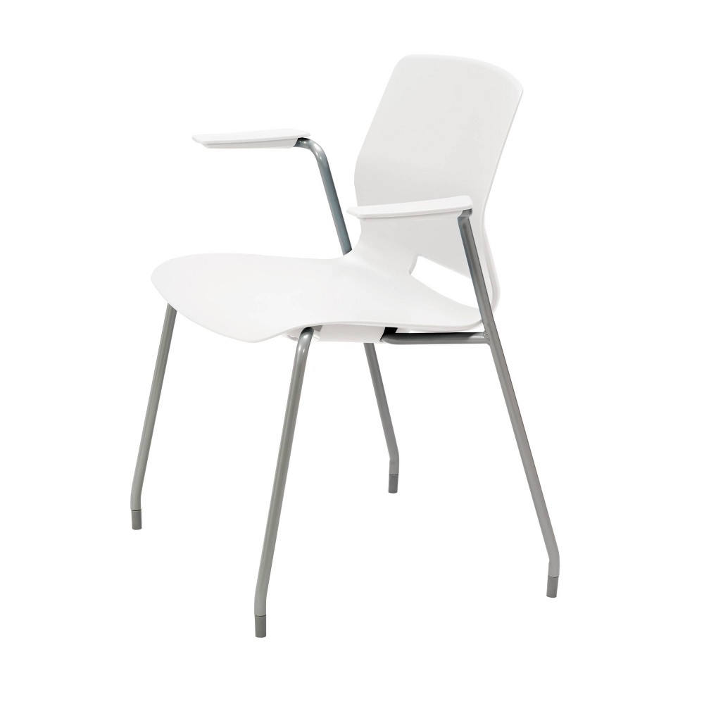 Lola Office Stack Chair with Arms White - Olio Designs