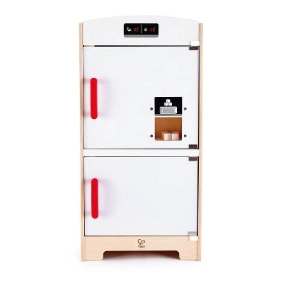 Hape Cabinet Style Wooden Fridge Freezer Play Kitchen w/ Ice Dispenser, White