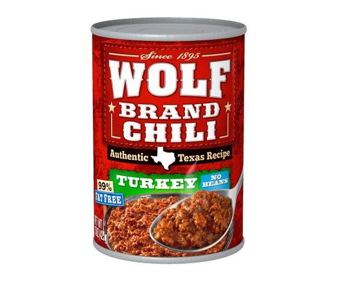 Wolf Brand Authentic Texas Recipe Turkey No-Bean Chili 15 oz - image 1 of 1