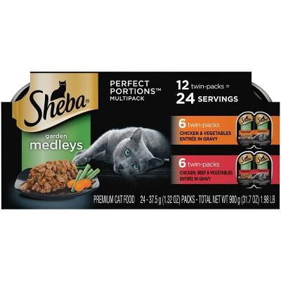 Sheba Perfect Portions Garden Medleys Chicken, Vegetables and Beef Wet Cat Food - 12ct